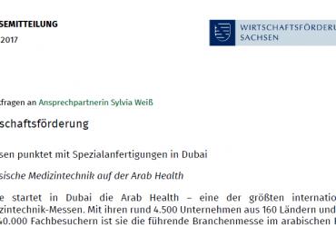 Pressemitteilung der Wirtschaftsförderung Sachsen vom 30.01.2016